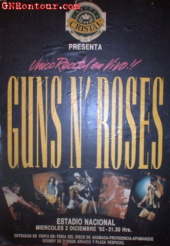 Guns n roses  chile 1992  19921202poster